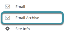 Select the Email Archive tool from you site's Tool Menu