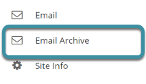 Select the Email Archive tool from the site's tool menu