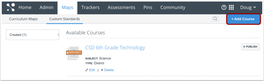 Select or Create Course