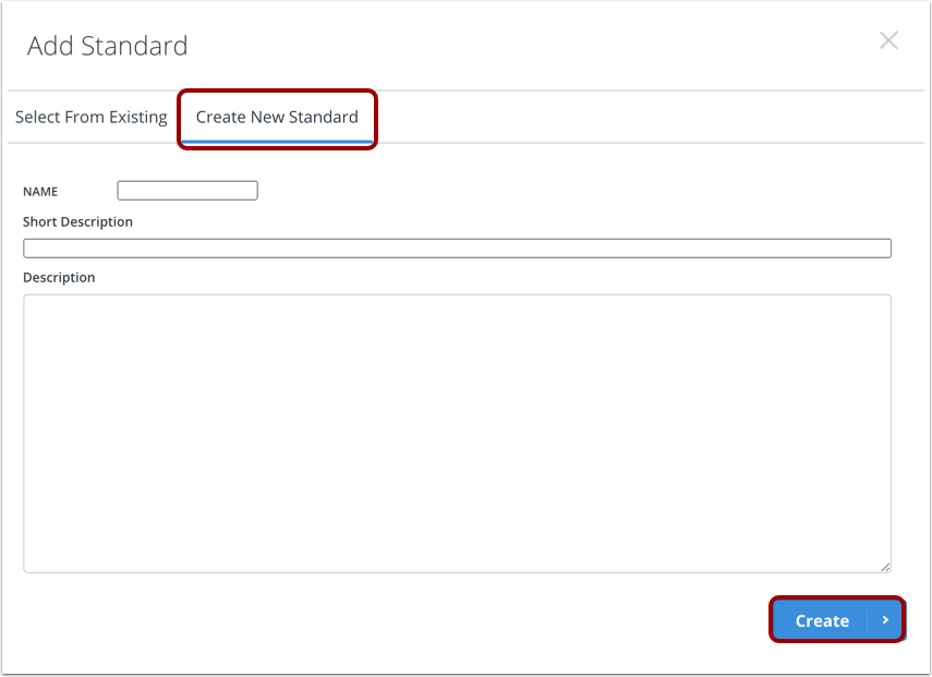 Create Custom Standard