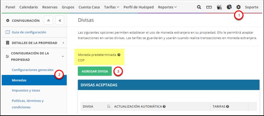 DEMO - El Bolsón - Configuración - Divisas - Google Chrome