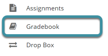 Select the Gradebook tool from your site's tool menu