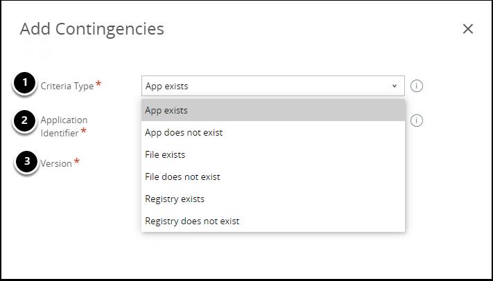 Criteria Type - App Exists/App does not exist