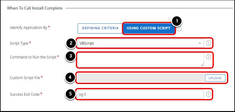 Identify Application By Using Custom Script