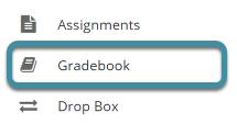 Select Gradebook from your site's Tool Menu
