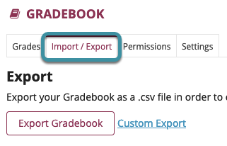 Select Import/Export