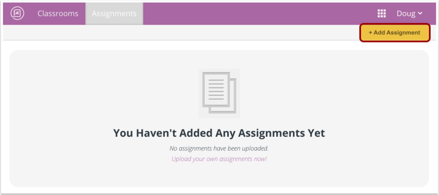 Open Assignment Editor