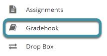 In your Sakai site, select Gradebook from the tool menu