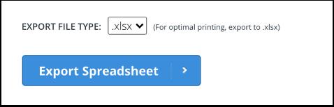 Export Tracker Spreadsheet