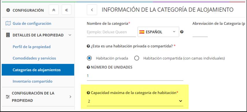 DEMO - El Bolsón - Configuración - Categorías de alojamientos - Google Chrome