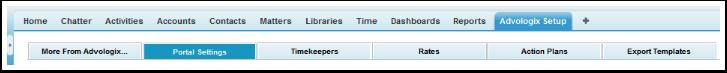AdvoLogix Setup: Portal Settings TAB