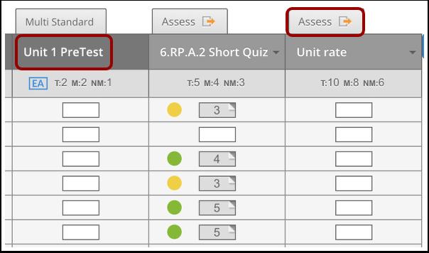Open Assess Tab