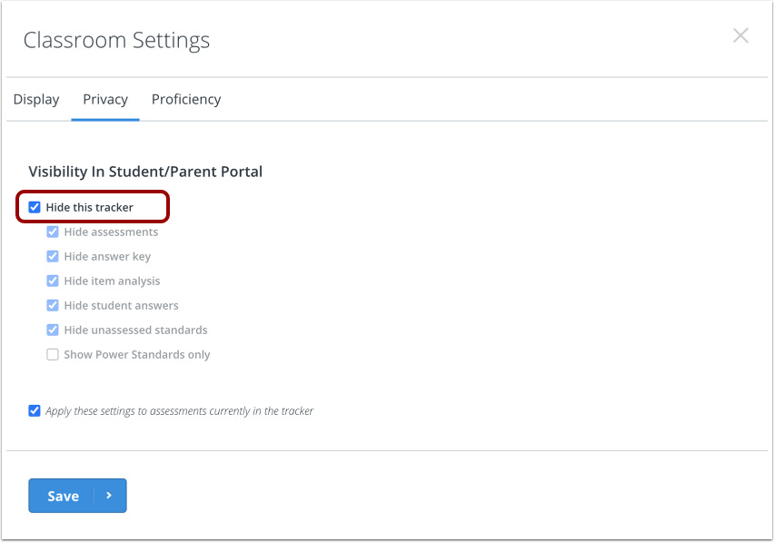Select Tracker Preferences