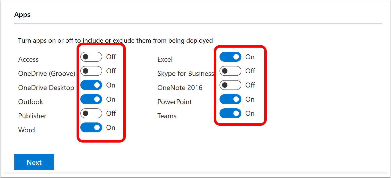 Configure Office Applications