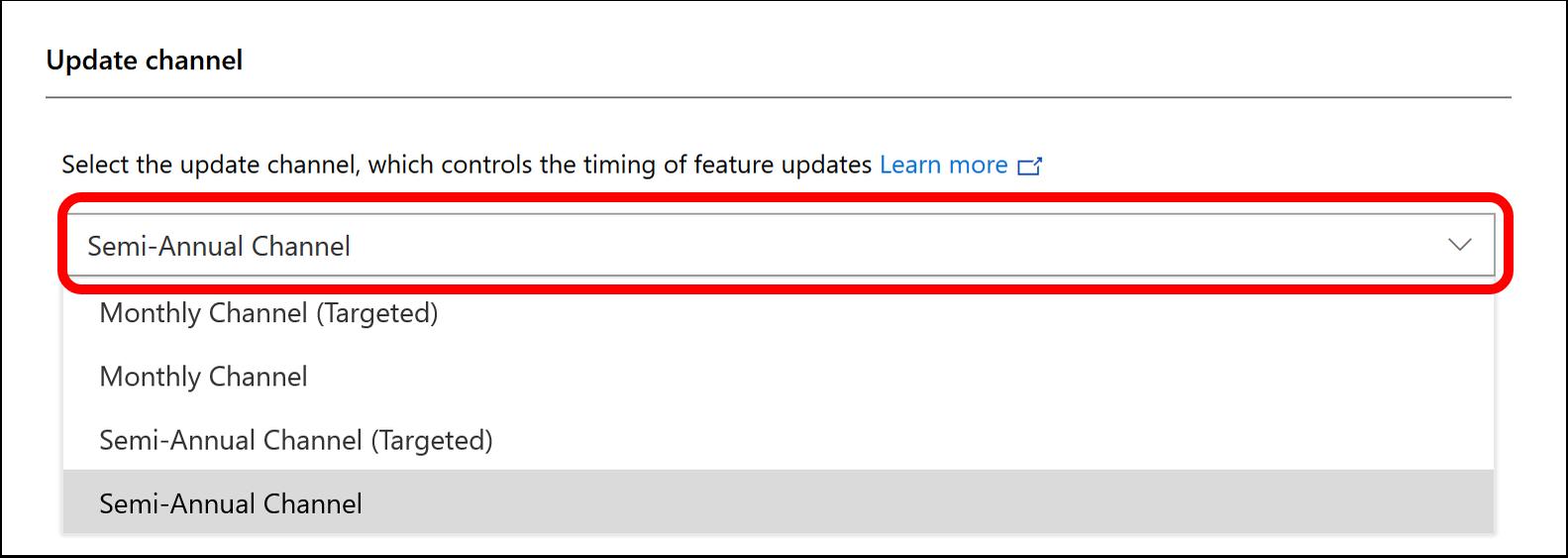 Configure Office Updates