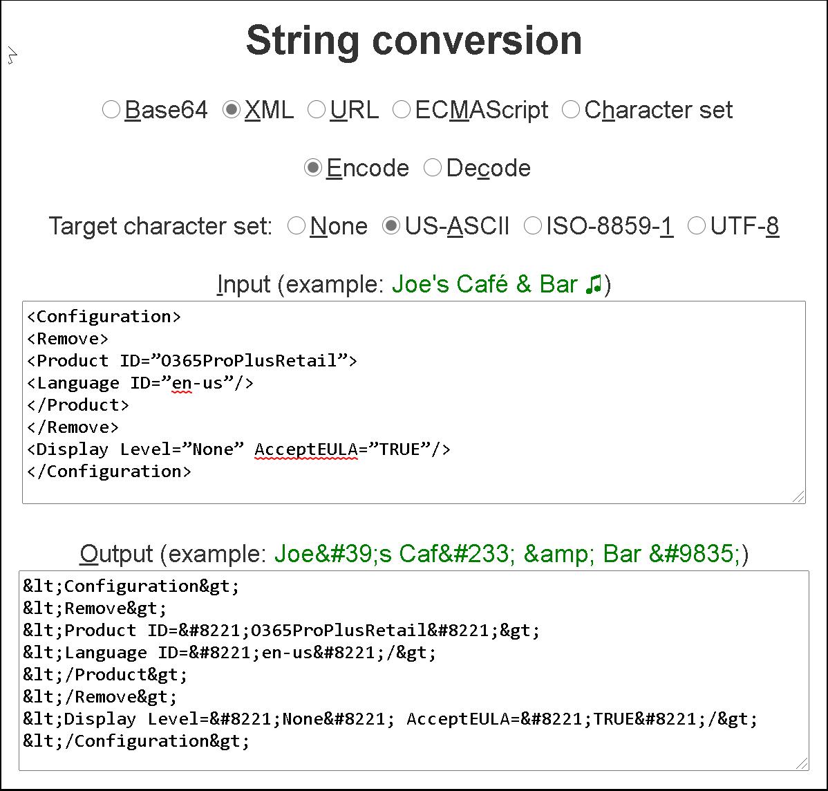 Convert Uninstall.xml file