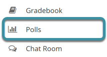 Select the Polls tool from your site's tool menu