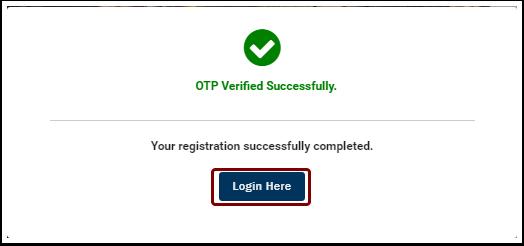 OTP Verified