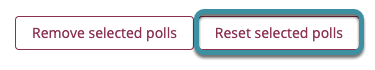 Select reset selected polls