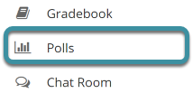 Select Polls from your site's tool menu