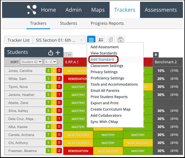 Open Tracker Standard