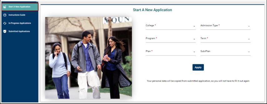 Start a New Application