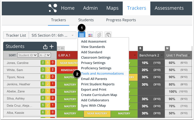 Open Tracker-level Accommodations
