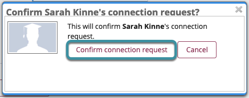 Select confirm connection request