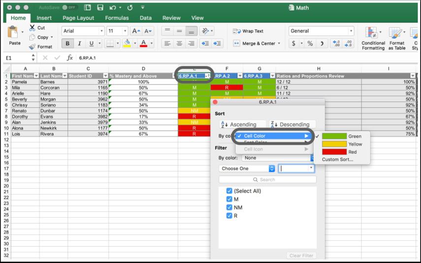 View Spreadsheet