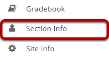 Go to Section Info.
