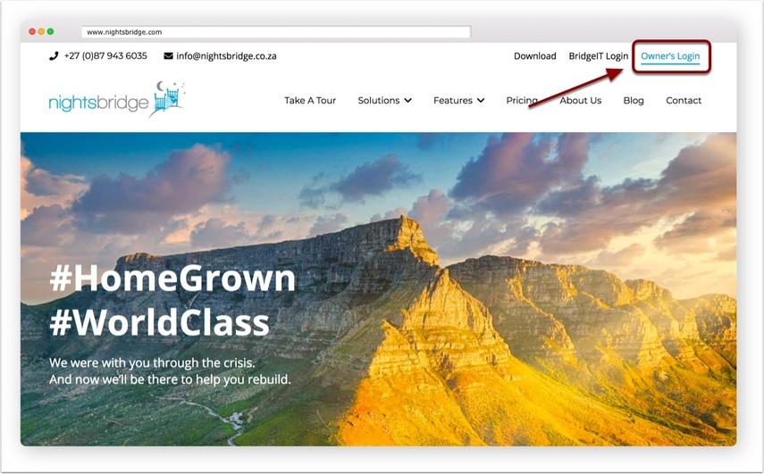 Owner's login link - image