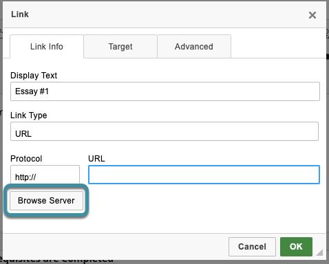Select Browse Server