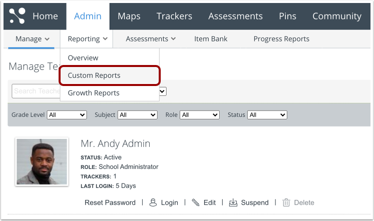 Open Custom Reports