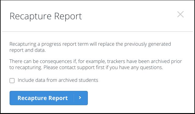 Recapture Report