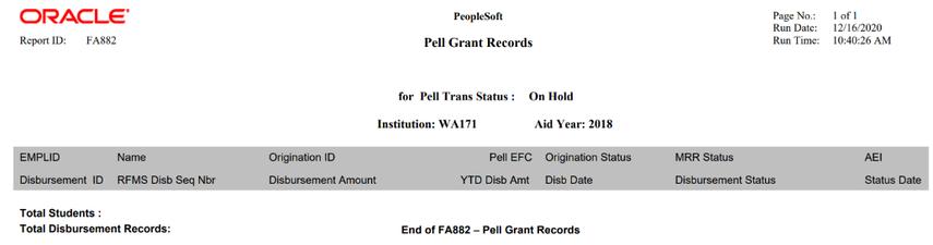 Pell report