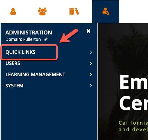 Highlighting Quick Links