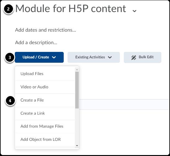 click upload/create, then click create a file