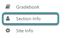 Select Section Info from your site's tool menu
