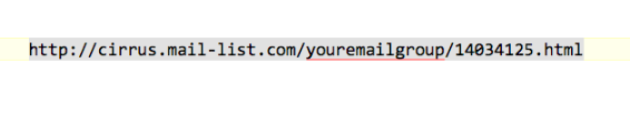 The link in the email was something like -