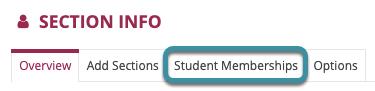 Select Student Memberships