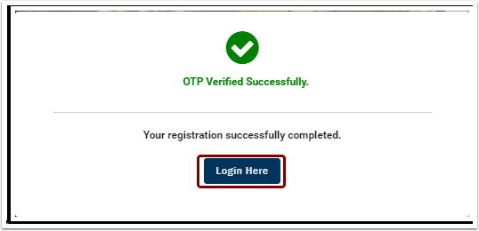 OTP verified successfully