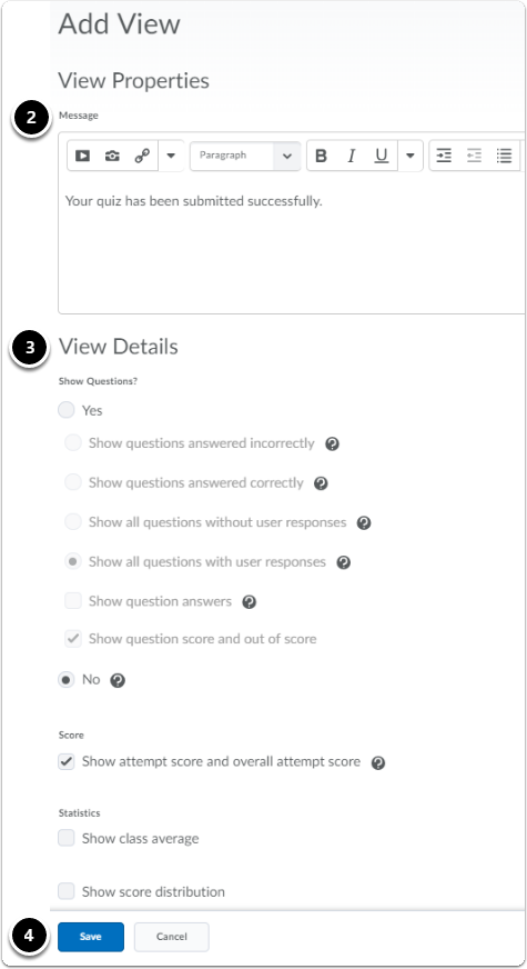 editing view submission screen