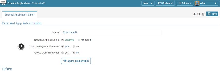 To enable User API calls