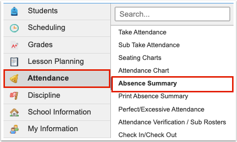 Absence Summary