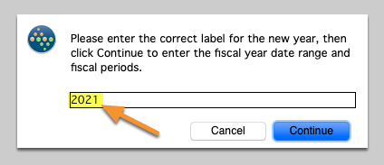 Please enter the correct label for the new year...