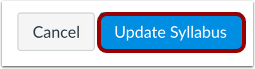 Update Syllabus