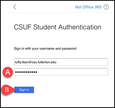 CSUF Student Authentication