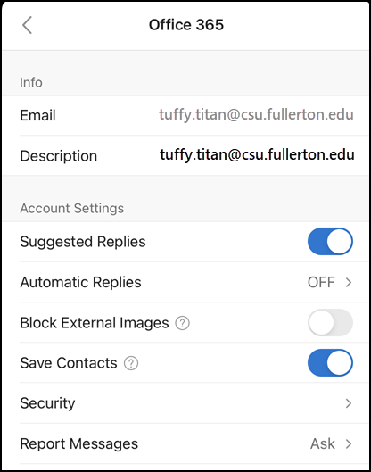 contacts sync on