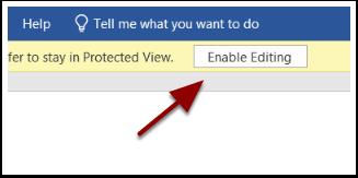 Protected View ribbon detail