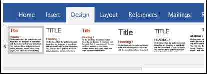 Word's Design Tab detail